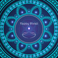 Vector greeting card to indian festival of lights. Happy Diwali