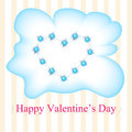 Vector greeting card for valentines day illustration Stock Photography
