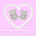 Vector greeting card for valentines day pink Royalty Free Stock Photos
