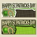 Vector greeting cards for Saint Patricks Day Royalty Free Stock Photo