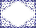 Vector greeting frame lacy napkin Royalty Free Stock Photography