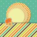 Vector greeting retro card with frame and flower Royalty Free Stock Photos