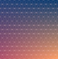 Vector grid pattern of triangles on color gradient background. Royalty Free Stock Photo