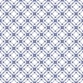 Vector grid seamless pattern, geometric texture in white and blue serenity