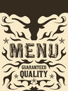 Vector grill steak restaurant menu design western style available Royalty Free Stock Photography