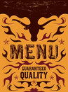 Vector grill steak restaurant menu design western vintage style eps available Stock Photos