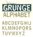 Vector Grunge Alphabet Stock Images