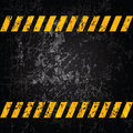 Vector grunge background with caution stripes and copy space Royalty Free Stock Image