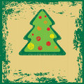 Vector grunge Christmas tree Royalty Free Stock Photos