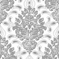Vector grunge damask seamless pattern element. Classical luxury old fashioned damask ornament, royal victorian seamless Royalty Free Stock Photo