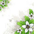 Vector grunge floral background Royalty Free Stock Photo