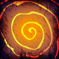 Vector grunge Halloween dark background. Hand drawn spirale Royalty Free Stock Photo