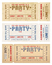 Vector Grunge Party Invites Royalty Free Stock Photo