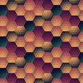 Vector grunge retro octagon background seamless pattern Stock Image