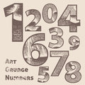 Vector grunge scratched numbers use for design Royalty Free Stock Photos