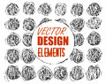 Vector grunge textures, backgrounds and brushes. Artistic collection of design elements. vector eps 10
