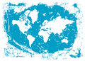 Vector grungy world map Royalty Free Stock Photo