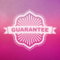 Vector guarantee sign business emblem Royalty Free Stock Photography