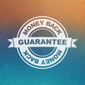 Vector guarantee sign money back Royalty Free Stock Photo