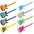 Vector guitar icons Royalty Free Stock Photo