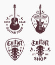 Vector guitar shop logo