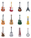 Vector guitars icon set Royalty Free Stock Images