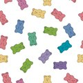 Vector gummy bear candies Royalty Free Stock Photo
