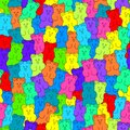 Vector gummy bear candies seamless background Royalty Free Stock Photo