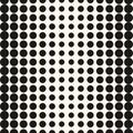 Vector half tone circles pattern. Halftone dots background.