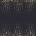 Vector halftone abstract background, black gold gradient gradation. Geometric mosaic triangle shapes monochrome pattern