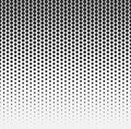 Vector halftone abstract background, black white gradient gradation. Geometric mosaic hexagon shapes monochrome pattern