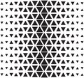 Vector halftone abstract triangular pattern. Seamless black and white triangle illustration
