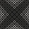 Geometric halftone seamless pattern with morphing floral shapes Royalty Free Stock Photo