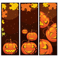 Vector Halloween banner Royalty Free Stock Photos