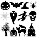 Vector halloween elements. Royalty Free Stock Photos