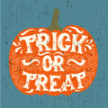 Vector halloween quote typographical background made in hand drawn style.