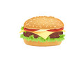 Vector hamburger, cheeseburger Stock Images