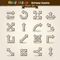 Vector Hand Draw Arrow Icon Set Royalty Free Stock Photo