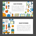 Vector hand drawn back to school background