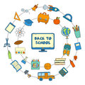 Vector hand drawn back to school icons
