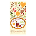 Vector hand drawn banner Spice for wine