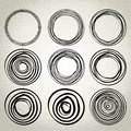 Vector : hand drawn circles, design elements Royalty Free Stock Photo