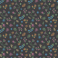Vector hand drawn doodle flower seamless pattern Royalty Free Stock Photo