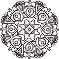 Vector hand drawn flower mandala. Ethnic ornament