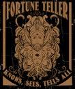 Vector hand drawn illustration of fortune teller