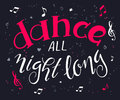Vector hand drawn music poster with handwritten lettering quote Royalty Free Stock Photo