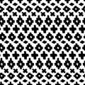 Vector hand drawn seamless tribal pattern