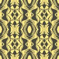 Vector Hand drawn sketch of abstract seamless pattern illustration on yellow background