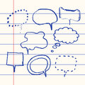 Vector hand drawn speech bubble set paper Royalty Free Stock Photo