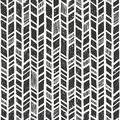 Vector hand drawn tribal pattern. Seamless primitive geometric background with grunge texture. Royalty Free Stock Photo